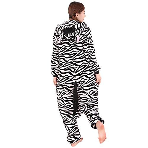 SODIAL M in a MUCCA donna da vantano R da forma pigiama a da tutine di pile Animal uomo di per costumi Unisex tutine pigiama forma Halloween dI4w74