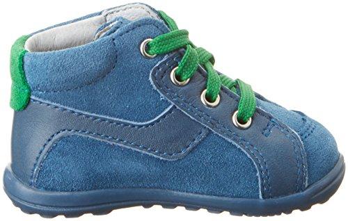 Richter Kinderschuhe Mini - Zapatillas de casa Bebé-Niñas Blau (pacific/grass)