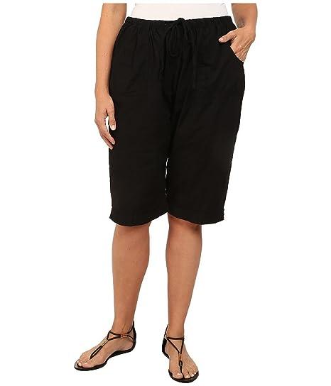 8a540200f52 Amazon.com   Fresh Produce Women s Plus Size Park Ave Pedal Pusher Black  Shorts 2X X 12.5   Everything Else