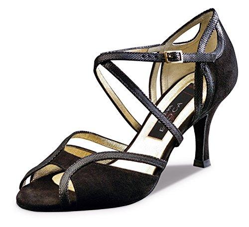 Nueva Epoca-Tango/Salsa Femme Chaussures de Danse Shakira-Noir-8cm