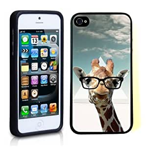 iPhone 5 5S Case ThinShell TPU Case Protective iPhone 5 5S Case Shawnex Hipster Giraffe Geek Glass