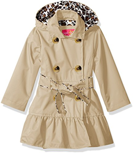 Pink Platinum Toddler Girls' Tod Classic Trench W/Satin Lining, Khaki, 3T (Satin Jacket Trench)