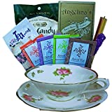 Art of Appreciation Gift Baskets Tea Time Treats Tea Cup Shaped Gift Tote