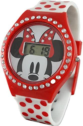 Disney Minnie Mouse Girl's Digital Watch with Rhinestones MN1251