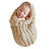 Aurorax Newborn Baby Scarf Photo Props Photography Baby Care Swaddle Sleeping Bag [Thick Soft Super] (Gray)