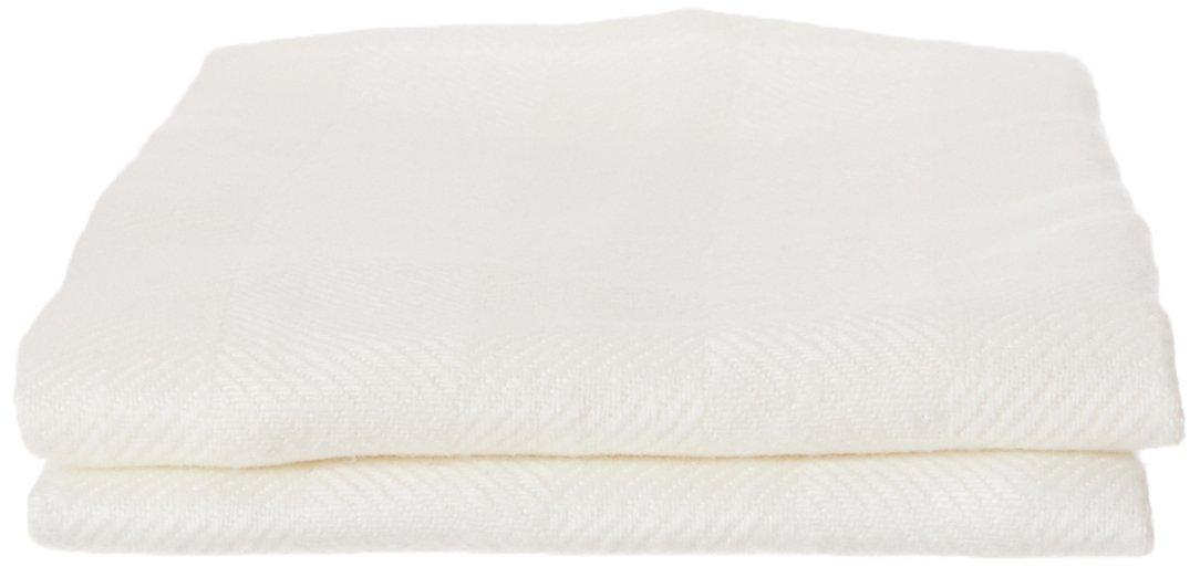 LinenMe 44 x 70 cm set di 2 asciugamani Lucas, bianco 0008601