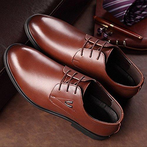 45 Scarpe Marrone Matte Fodere BMD EU Dimensione PU da Shoes Lace lavoro Up Color Scarpe uomo uomo Upper di Classic in fodera Leather da Nero da pelle traspirante 5p47Uqp