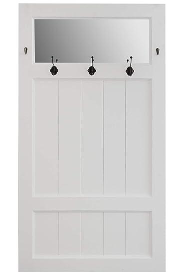 Elbmöbel Garderobe Tür Spiegel Weiß Antik Landhaus Holz