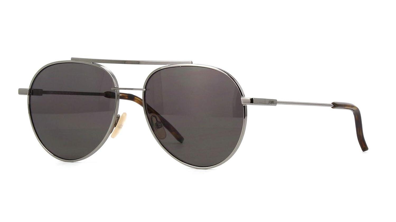 8d7f45ee8416 Amazon.com  New Fendi AIR FF 0222 S KJ1 M9 Ruthenium Grey Dark Grey  Sunglasses  Clothing