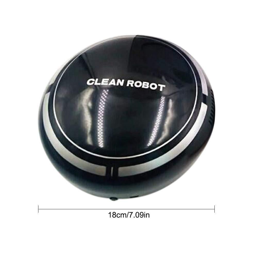 HoneybeeLY Carga dom/éstica Perezoso Mini Robot de Barrido direcci/ón autom/ática Inteligente peque/ños electrodom/ésticos m/áquina de Limpieza aspiradora Blanco y Negro de Dos Colores 2.4W