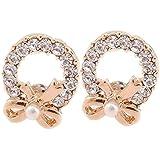 CNCbetter Women Fashion Jewelry White Rhinestone Butterfly Charms Stud Earring Birthday gift
