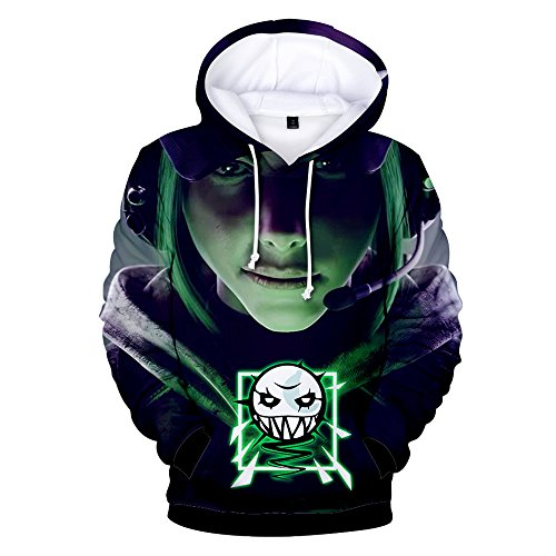 Rainbow Hoodie 3D Printed Hooded Pullover Sweatshirt (Large, Color 1)