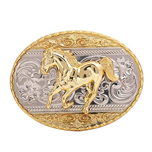 Photo Running Horse Belt Buckle,Western Cowboy Rodeo Belt Buckles for Men and Women