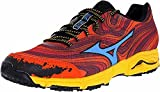 Mizuno Men's Wave Kazan Trail Running Shoe,Chinese Red/Dude Blue/Spectra Yellow12 M US