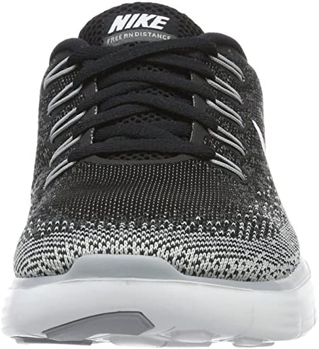 Nike Womens Free Rn Distance Black White Dark Grey Wlf Grey Running Shoe 8 Women US