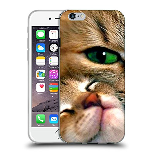 Just Phone Cases Coque de Protection TPU Silicone Case pour // V00004253 chat soigne son chaton // Apple iPhone 6 4.7""
