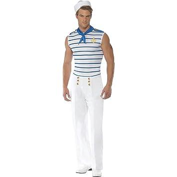 Disfraz marinero blanco-azul L 52/54 marinero traje de ...