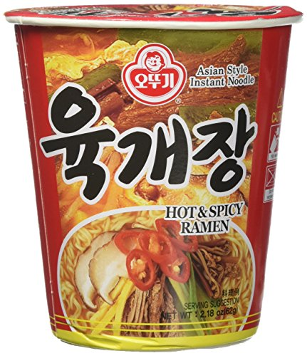 Ottogi Ramen Cup, Spicy Beef Soup (Yukgaejang), 2.18 oz., 6 Count
