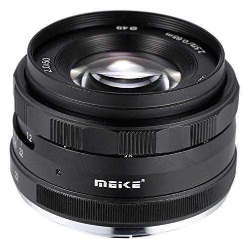 MEIKE MK-E-50-2 0 50mm F2 0 プライムレンズ マニュアルフォーカス APS-C カメラレンズ Sony E Mount NEX3 NEX5 NEX6 NEX7 A5000 A5100 A6000 A6100 A6300 ILDC ミラーレスカメラ用