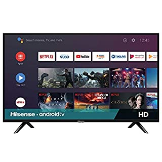 Hisense 32-Inch Class H55 Series Android Smart TV with Voice Remote (32H5500F, 2020 Model)