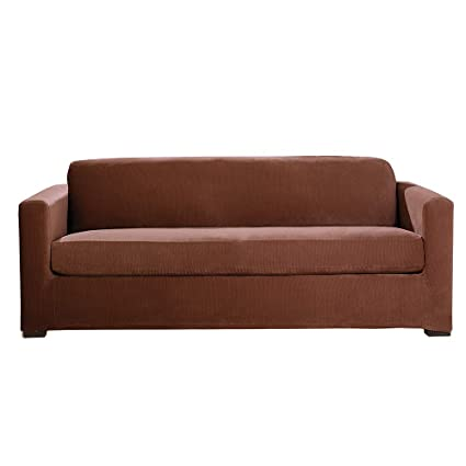 Amazon.com: SureFit Stretch Corduroy 3-Piece - Sofa Slipcover - Oar ...