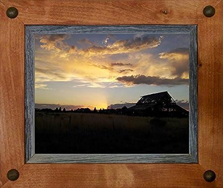 Rustic Frames-16x20 Distressed Wood Frame with Tacks - Sagebrush ...