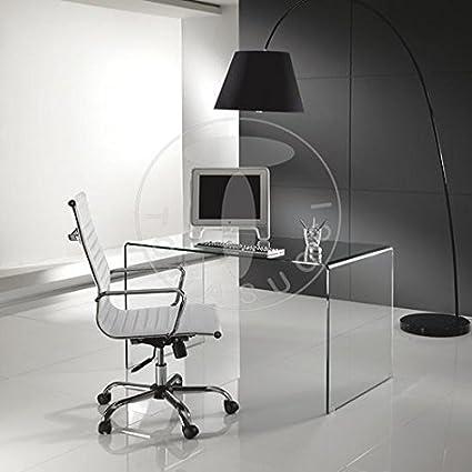 Scrivania vetro curvato Bend: Amazon.it: Casa e cucina