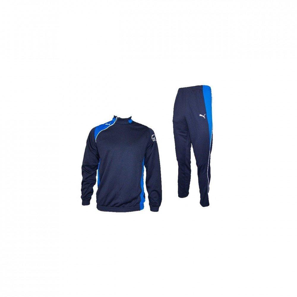 Puma United - Chándal para niños negro azul Talla:8 años (128 cm ...