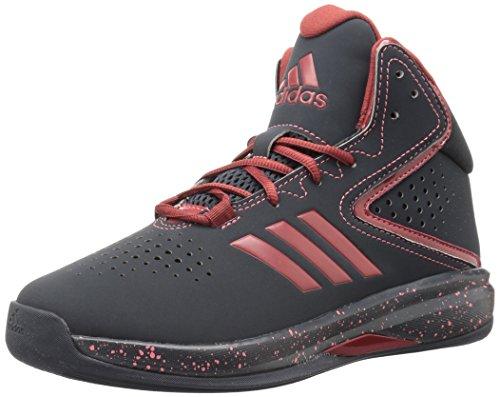adidas Boys' Cross 'Em up Basketball Shoe, Black/Black, 4 Wide US Little Kid
