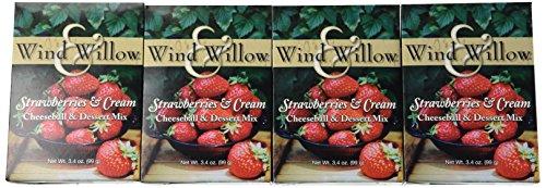 - Wind and Willow Strawberries & Cream Cheeseball & Dessert Mix - 3.4 Ounce (4 Pack)