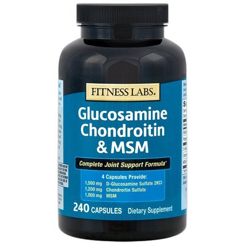 Fitness Labs Glucosamine Chondroitin & MSM, 240 Capsules