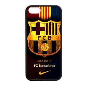 Fashion FC Barcelona Football Club iPhone 5 5s Cell Phone Cases Cover Popular Gifts(Laster Technology)