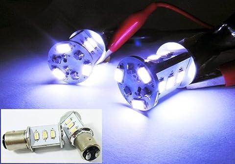 LEDIN 1157 SAMSUNG 12 SMD LED Brake Light 2357 7528 BAY15d White 7000K (71 Chevelle Led Tail Lights)