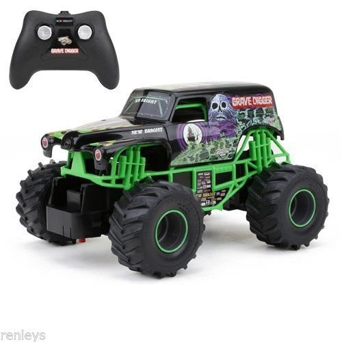 Monster Truck Grave Digger (Grave Digger RC Remote Control Truck Monster Jam Toy Racing Car For Kids Gift)