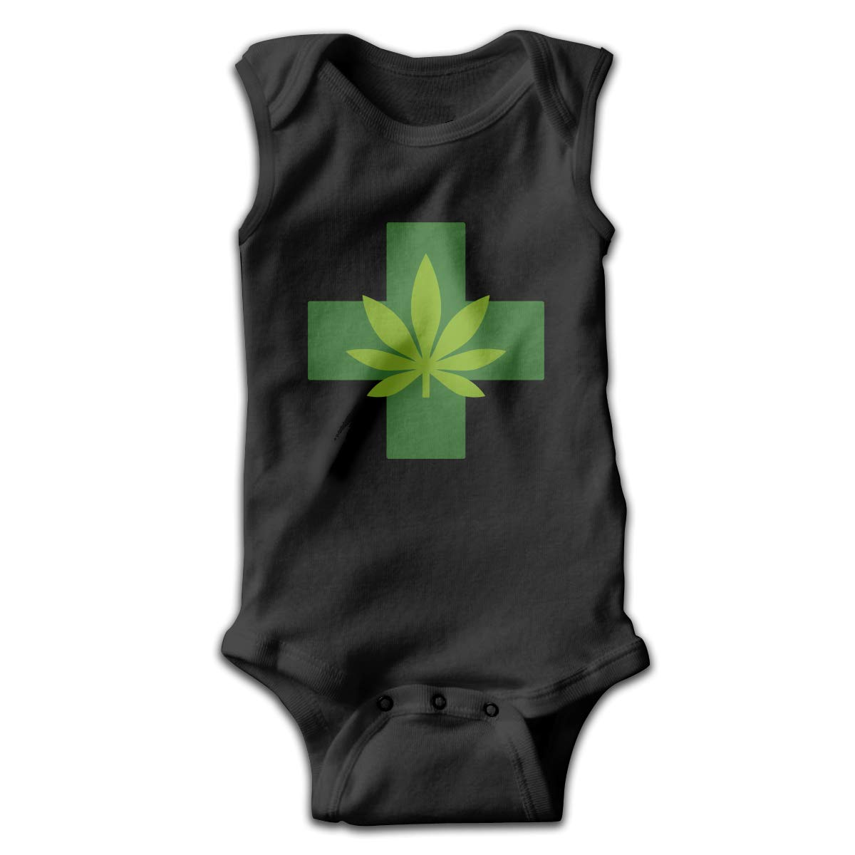 Medical Marijuana Pot Leaf Cross Baby Clothes Sleeveless Cute Funny Toddler Summer Romper Gift for Baby