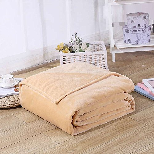 Brown 27' Fleece (CAMMITEVER Luxury Throw Blanket Throws Coral Fleece Travel Flannel Blanket Cover Bedding Bedsheet Soft Velvet Solid Home Bed (39'' by 27'', Camel))