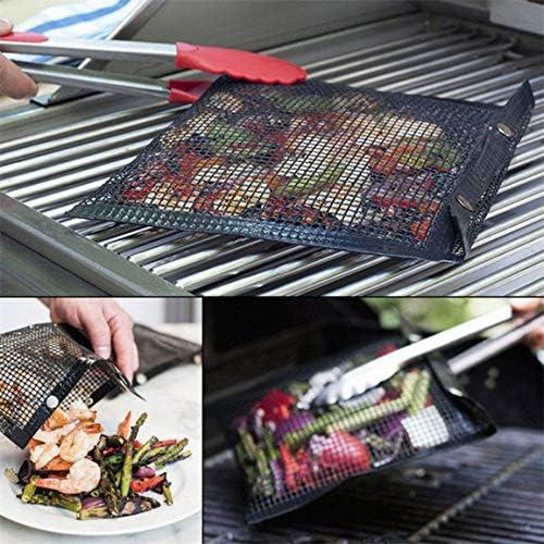 Sac de Maille antiadhésive Sac de Barbecue Sac de Grillage antiadhésif Sac de Barbecue résistant à la Chaleur Cuisine Outil de Barbecue en Plein air