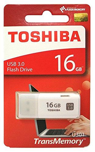 (Toshiba USB3.0 Flash Drive 16GB Disk TransMemory U301 Hayabusa Stick (THN-U301W0160A4))