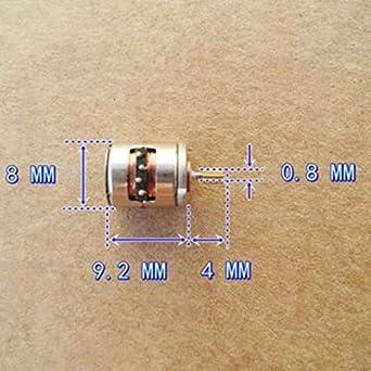 10 un Micro motor paso a paso con el cobre Gear 2 fases 4 Cables para Cámara Digital Nueva