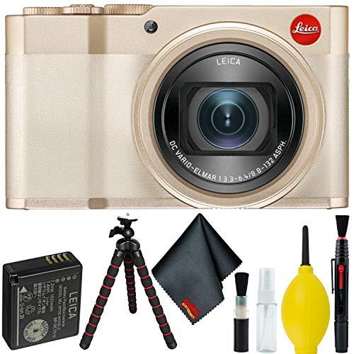 Leica C-Lux Digital Camera (Light Gold) Bundle w/Tripod