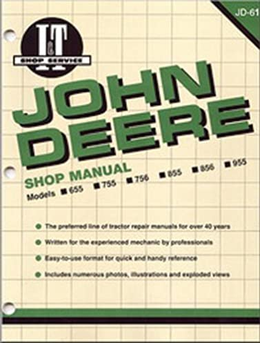51bhgJkrtbL._SX377_BO1204203200_ john deere shop manual models 655 755 756 855 856 955 (jd 61) (i&t John Deere 855 Parts Diagram at soozxer.org