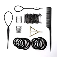 Noova Bun Maker Ponytail Holder - Topsy Tail Hair Tool Styling Accessories Set For Women Includes Bobby Pins Elastics Hair Braid Magic Twist Short & Long Hair Quality DIY Kit for Womens & Girls