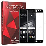 NETBOON® Huawei Mate 9 Pro Tempered Glass Ultimate High Transparency 9H Hardness Curved Edge Sensitive Touch Feature Gorilla Glass With Edge To Edge Full Protection Screen Protector Guard - Black