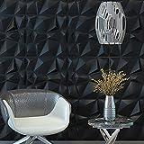 Art3d 3D Paneling Textured 3D Wall Design, Grey