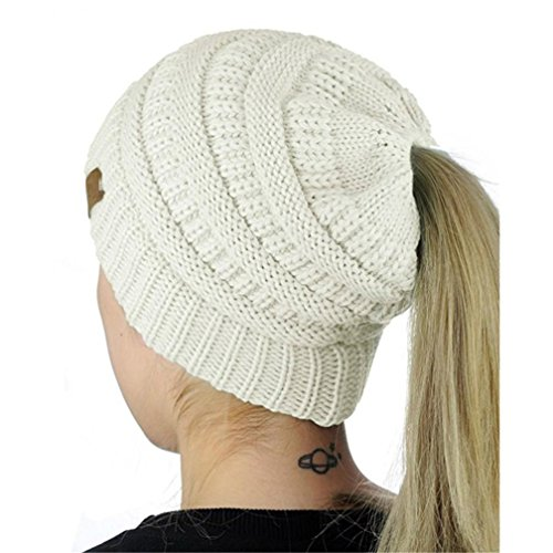 HANYI Women Winter Crochet Hat Wool Knit Beanie Warm Caps (F) Soft Classic Baby Cupcake
