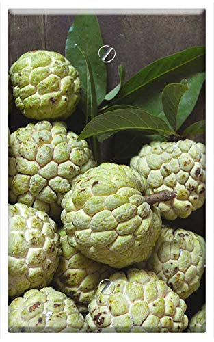 Single-Gang Blank Wall Plate Cover - Fruit Custard Apple Organic Fresh Green Tropical