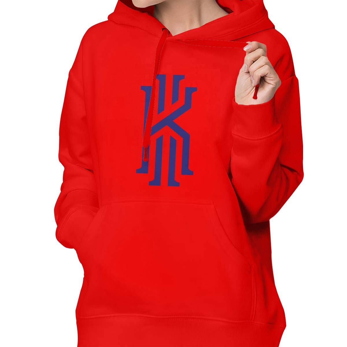 Womens Pullover Hoodie Kyrie K Irving Shirts Shirt Hooded Sweatshirt Hoodies for Women Girls Clothes Outdoor Sport Tops Black