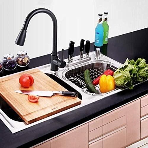 CHENBIN-BB タッププリティプルアウトキッチンの野菜盆地ホットとコールドタップすべての銅伸縮自在に回転可能世帯ランドリー表シンクシンク耐久性