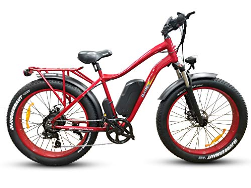 """Black Max Rainier Extreme 48V 14.5ah 750W Bafang Hub Drive 26"""" X 4.0"""" Fat Tire Electric Bike 1 Year Warranty with Parts and Service Available in The US"""