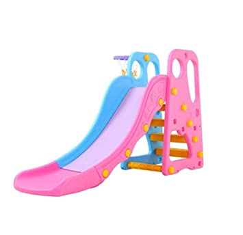 Skiout Children's Slide Folding Plastic Play Slide Climbing Ride Climber for Kids Outdoor Indoor Play Toy Playground